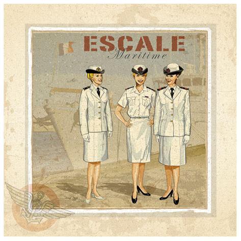 Escale Art Print