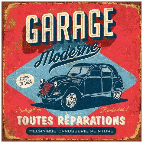 garage moderne poster by bruno pozzo at. Black Bedroom Furniture Sets. Home Design Ideas