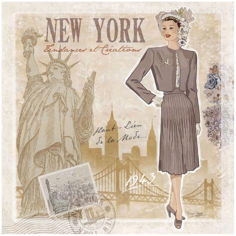 Mode New York Art Print