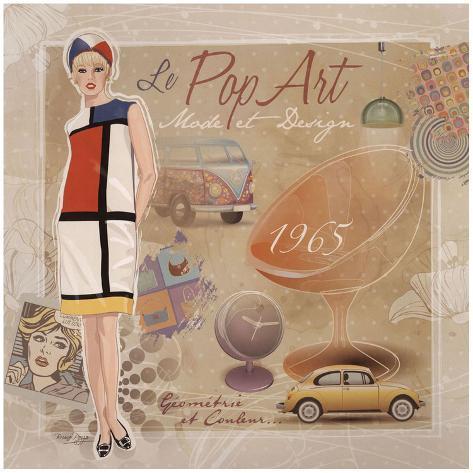 Mode Pop Art Art Print