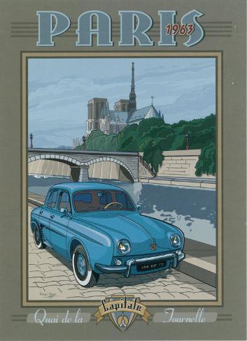 Paris 1963, Dauphine Art Print