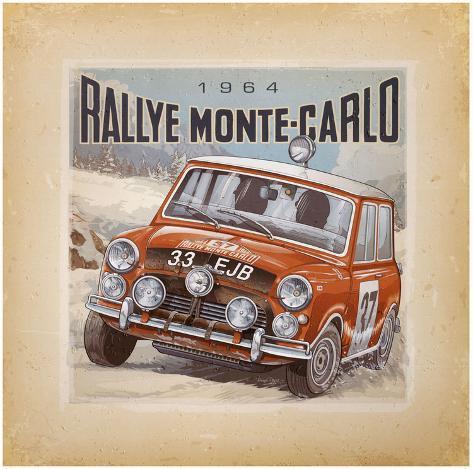 Rallye Monte-Carlo Art Print