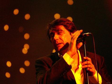 Bryan Ferry at the Newcastle City Hall, October 2002 Lámina fotográfica