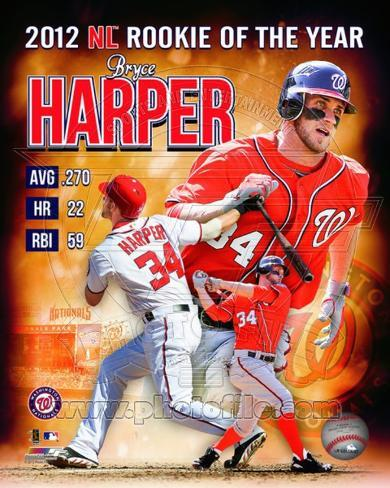 Bryce Harper 2012 National League Rookie of the year Composite Photo