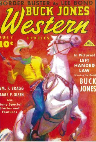 Buck Jones Western (Pulp) Masterprint