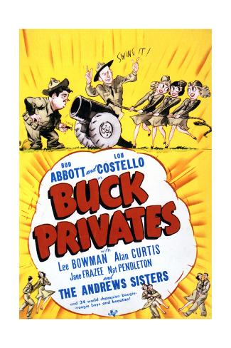 Buck Privates - Movie Poster Reproduction Art Print