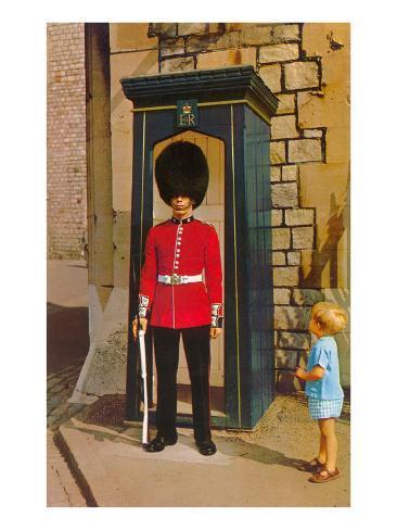 Buckingham Palace Guard, London, England Art Print