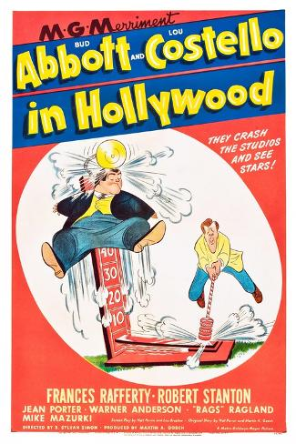 Bud Abbott and Lou Costello in Hollywood Art Print