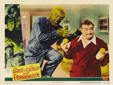 Bud Abbott Lou Costello Meet Frankenstein, 1948 Art Print