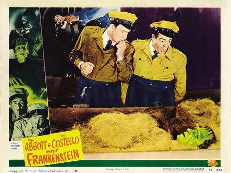 Bud Abbott Lou Costello Meet Frankenstein, 1948 Art Print