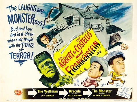 Bud Abbott Lou Costello Meet Frankenstein, 1948 Konstprint