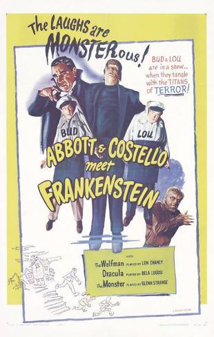 Bud Abbott Lou Costello Meet Frankenstein, 1948 Stampa master