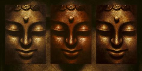 Buddha in Three Lights Art Print