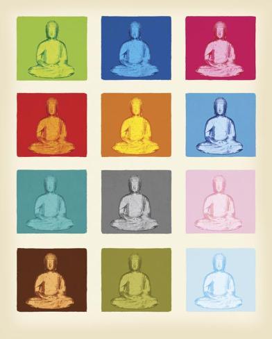 Buddha Pop Art Miniposter
