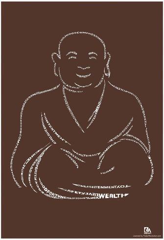 Buddha Text Poster Poster