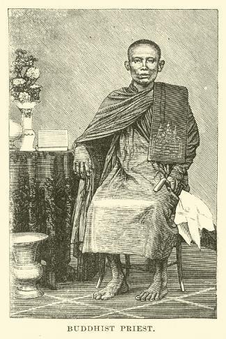 Buddhist Priest Stampa giclée