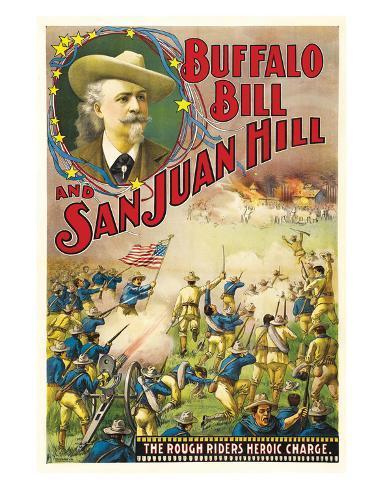 Buffalo Bill And San Juan Hill - 1902 Giclee Print
