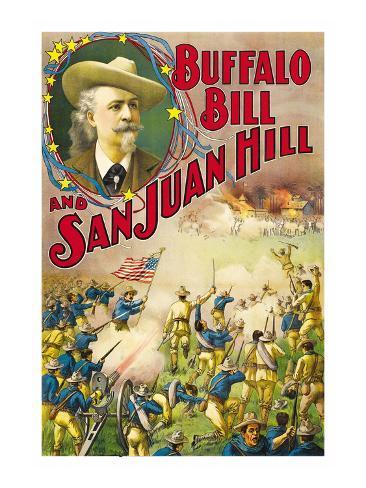 Buffalo Bill and San Juan Hill Art Print