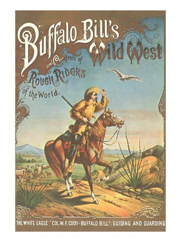 Buffalo Bill's Wild West Show Poster, Scout on Horse Art Print