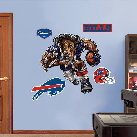 Buffalo Bills Die Cut RB Liquid Blue Wall Decal