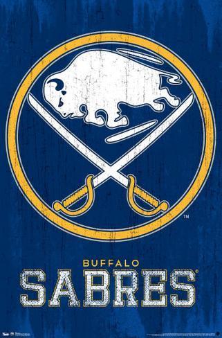 Buffalo Sabres NHL Logo Poster