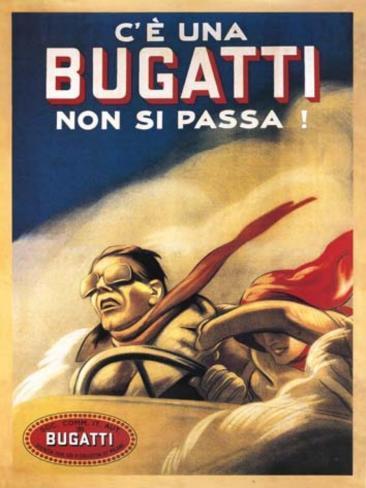 Bugatti Plåtskylt