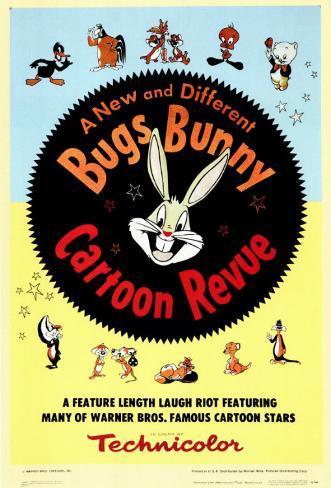 Bugs Bunny Cartoon Revue Masterprint