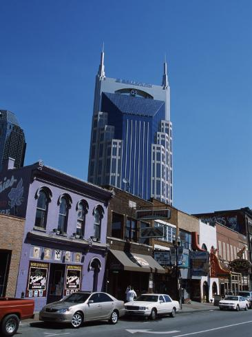 Buildings in a City, Honky Tonk Row, Nashville, Davidson County, Tennessee, USA Photographic Print