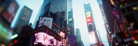 Buildings Lit Up at Dusk, Times Square, Manhattan, New York City, New York State, USA Stretched Canvas Print