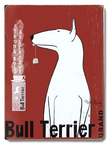 Bull Terrier Brand Wood Sign