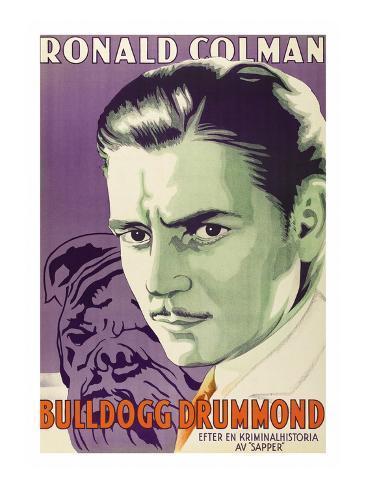 Bulldog Drummond Konstprint