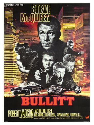 Bullitt, French Movie Poster, 1968 Art Print