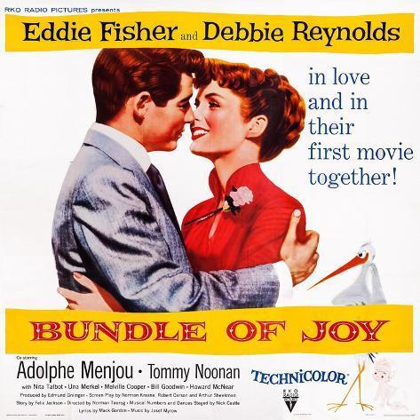 Bundle of Joy, Eddie Fisher, Debbie Reynolds, 1956 Art Print