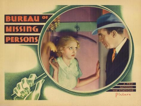 Bureau of Missing Persons, 1933 Art Print