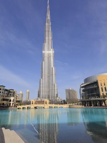 Burj Khalifa and Dubai Mall, Downtown, Dubai, United Arab Emirates, Middle East Photographic Print