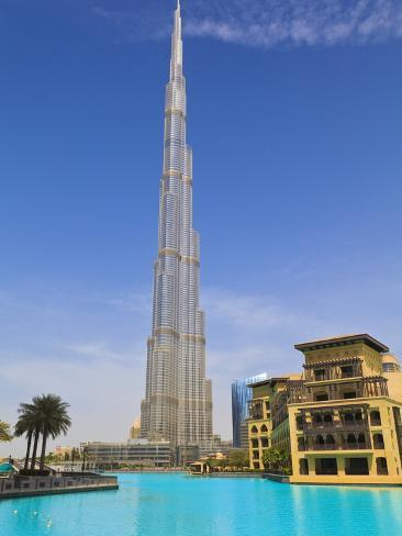 Burj Khalifa, the Tallest Man Made Structure in the World at 828 Metres, Downtown Dubai, Dubai, Uae Photographic Print