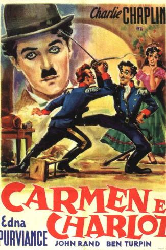 Burlesque on Carmen Movie Charlie Chaplin Plastic Sign Plastic Sign