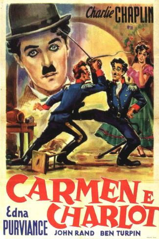 Burlesque on Carmen Movie Charlie Chaplin Poster Print Poster