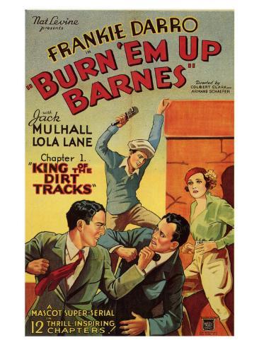 Burn 'em Up Barnes, 1934 Art Print