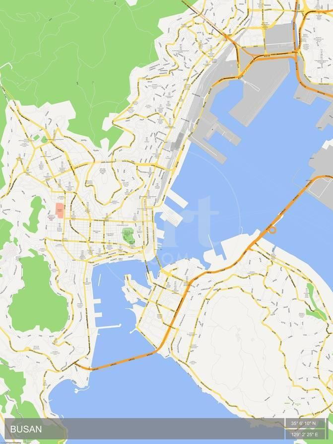 Busan korea republic of map poster allposters privacy preference centre gumiabroncs Choice Image
