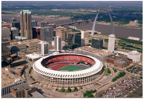 Busch Stadium Aerial Color St Louis Archival Photo Sports Poster Photo at AllPosters.com