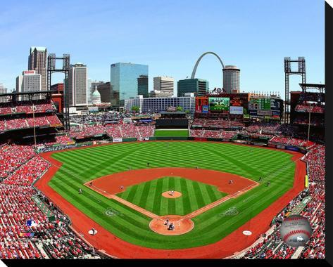 Busch stadium stretched canvas print for Busch stadium wall mural