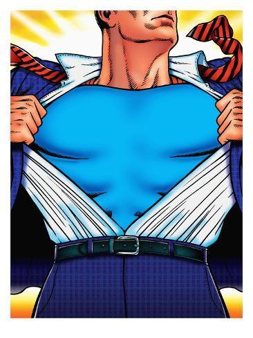 Businessman Super Hero Stretched Canvas Print
