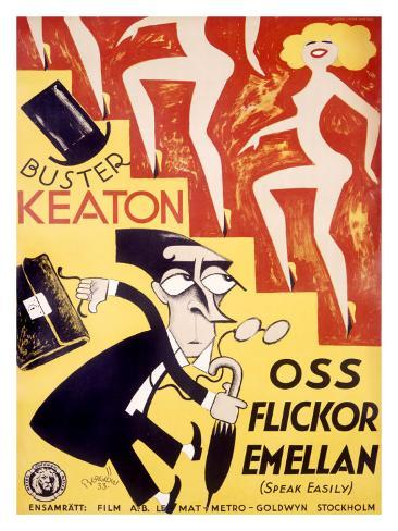 Buster Keaton, Speak Easily Stampa giclée