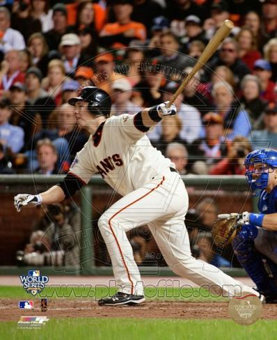 Buster Posey Game Two of the 2010 World Series Action Photo