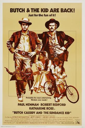 Butch Cassidy and the Sundance Kid, 1969 Giclee Print