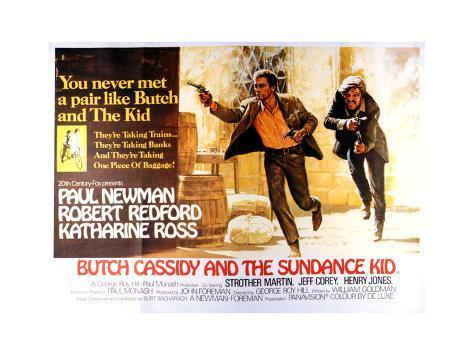 Butch Cassidy and the Sundance Kid - Lobby Card Reproduction Art Print