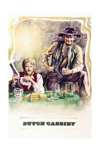 Butch Cassidy and the Sundance Kid - Movie Poster Reproduction Premium Giclee Print