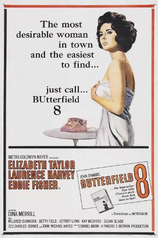 Butterfield 8, 1960, Directed by Daniel Mann Giclee Print