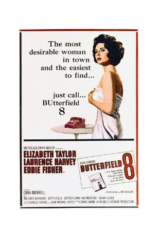BUtterfield 8 - Movie Poster Reproduction Art Print